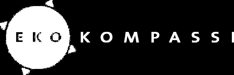 eko kompassi logo valkoinen